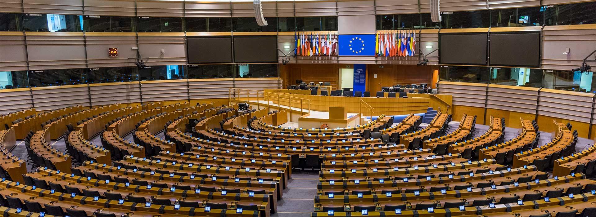 Sala de conferência do Parlamento Europeu